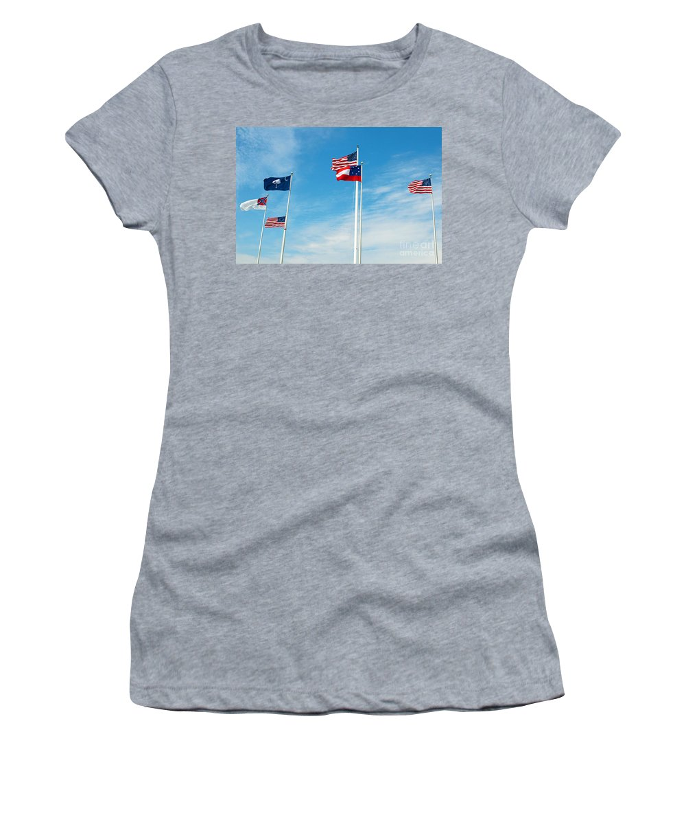 Charleston Women's T-Shirt featuring the photograph Fort Sumter, Sc by Millard H. Sharp