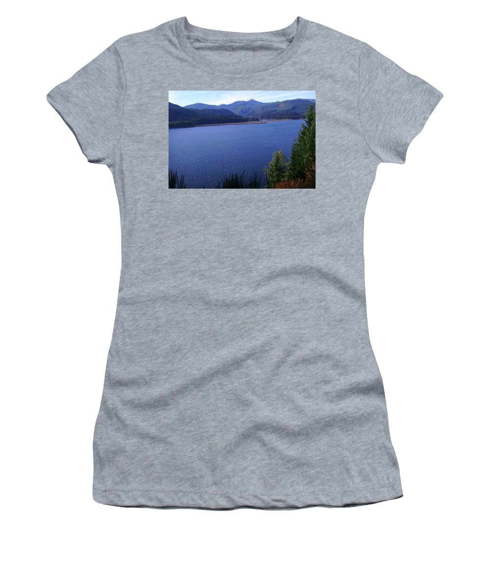 Bloom Women's T-Shirt (Athletic Fit) featuring the photograph Lakes 4 by J D Owen