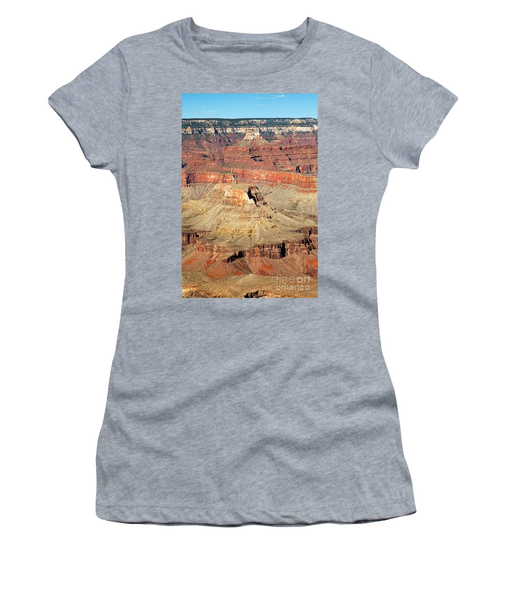 Afternoon Women's T-Shirt (Athletic Fit) featuring the photograph Mohave Point Grand Canyon National Park by Fred Stearns