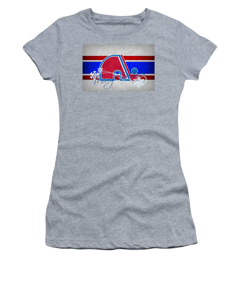 Nordiques Women's T-Shirt featuring the photograph Quebec Nordiques by Joe Hamilton