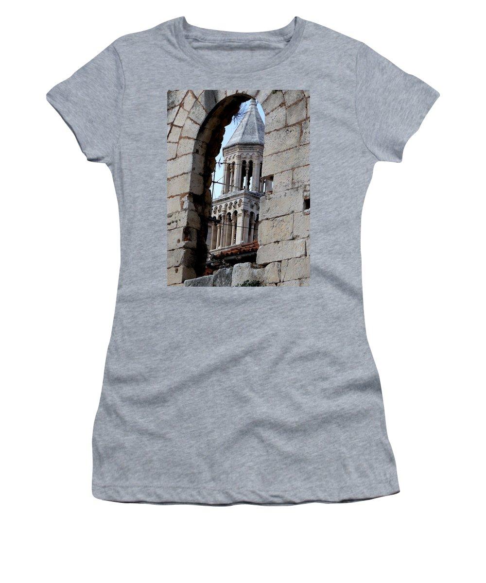 Split Croatia Women's T-Shirt featuring the photograph Views Of Split Croatia by Richard Rosenshein