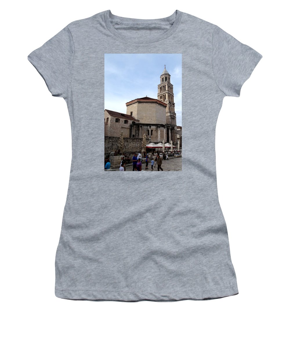 Split Croatia Women's T-Shirt featuring the photograph Views Of Split Croatia by Richard Rosenshein