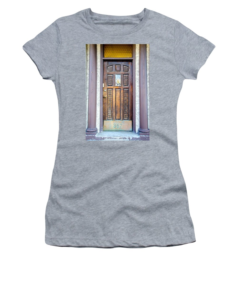 Guy Whiteley Photography Women's T-Shirt (Athletic Fit) featuring the photograph 367 Delaware by Guy Whiteley