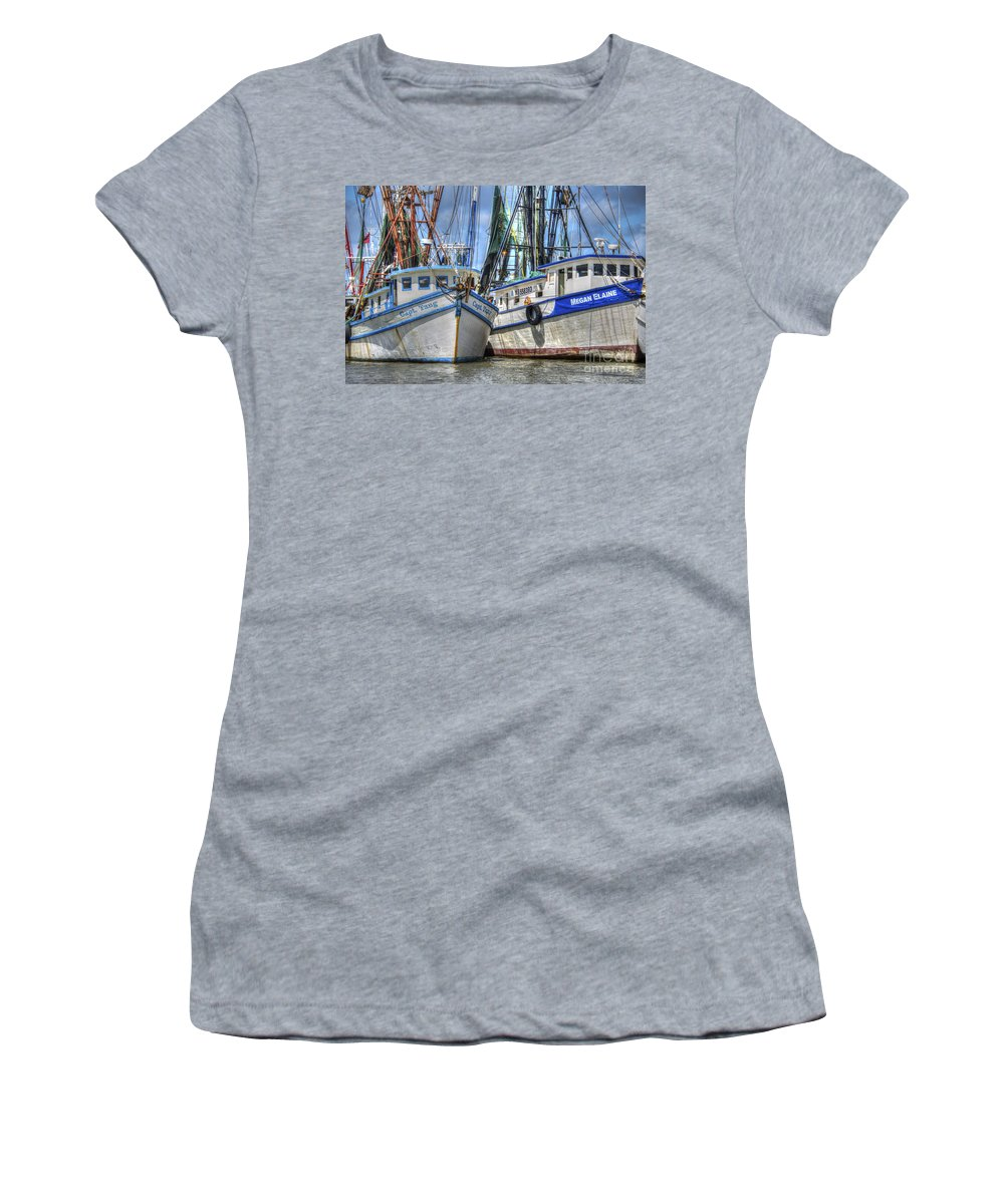 Shrimp Boats Women's T-Shirt featuring the photograph Captain Tang by Dale Powell