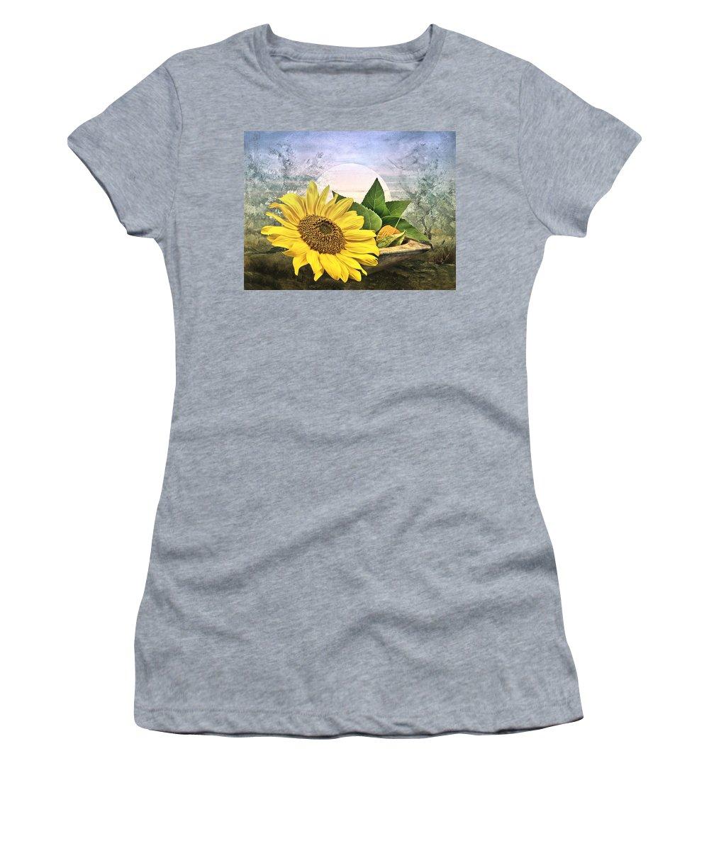 Sunflower Women's T-Shirt featuring the photograph Sunflower by Manfred Lutzius