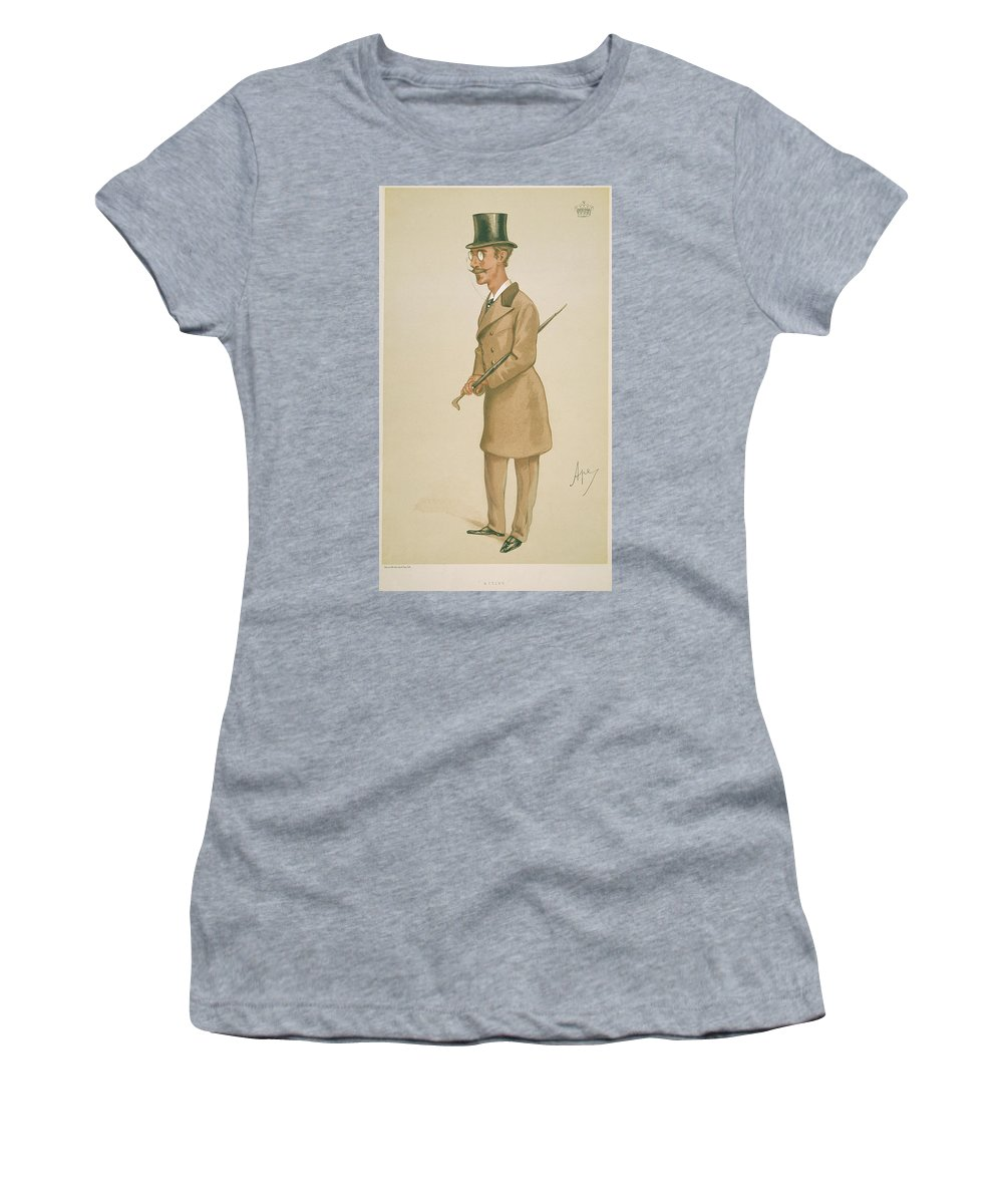 19th Century Women's T-Shirt (Athletic Fit) featuring the painting 4th Earl Of Dunhaven, Amd Mount-earl by Granger