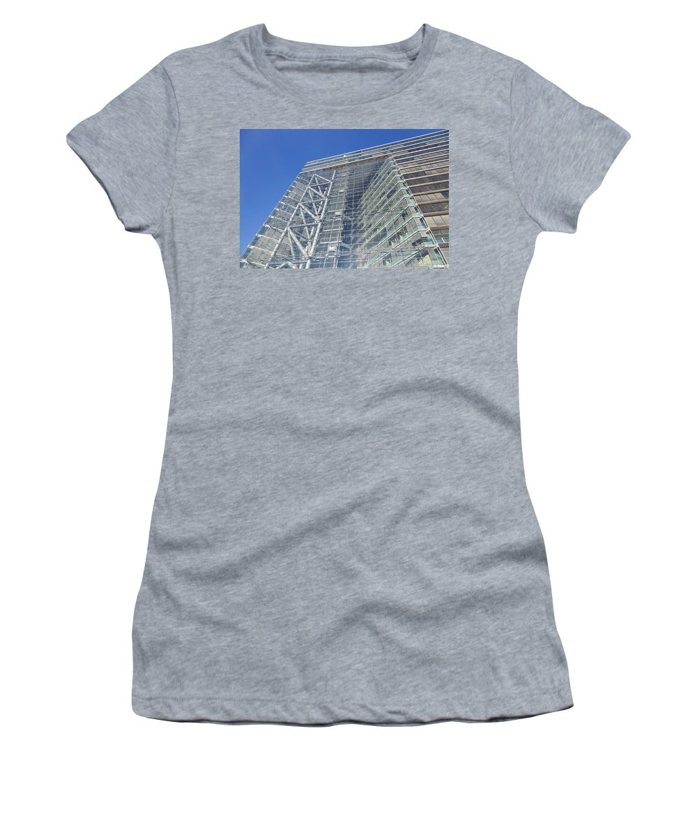 Photography Women's T-Shirt featuring the photograph Low Angle View Of An Office Building by Panoramic Images