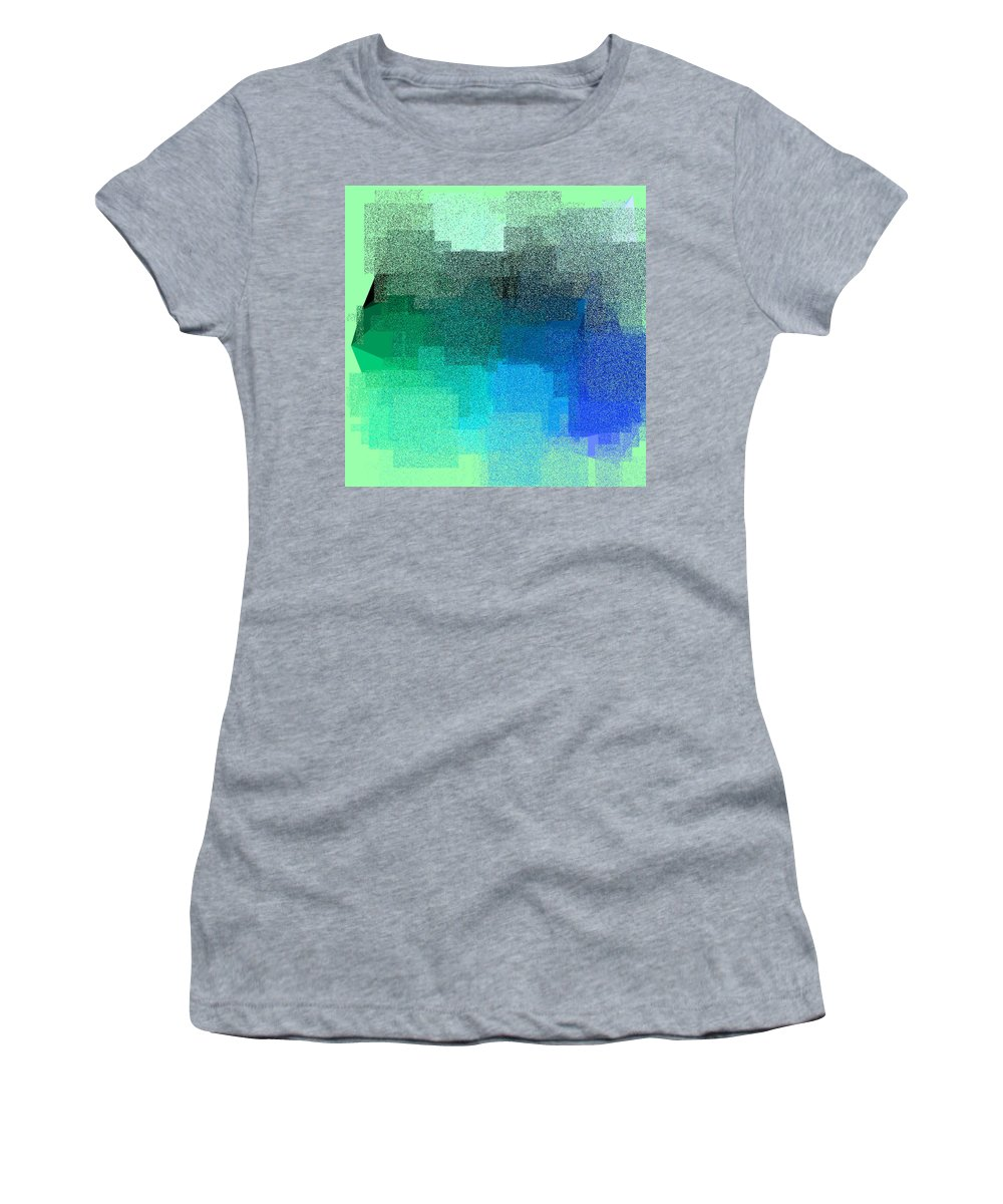 Abstract Women's T-Shirt featuring the digital art 5120.5.40 by Gareth Lewis
