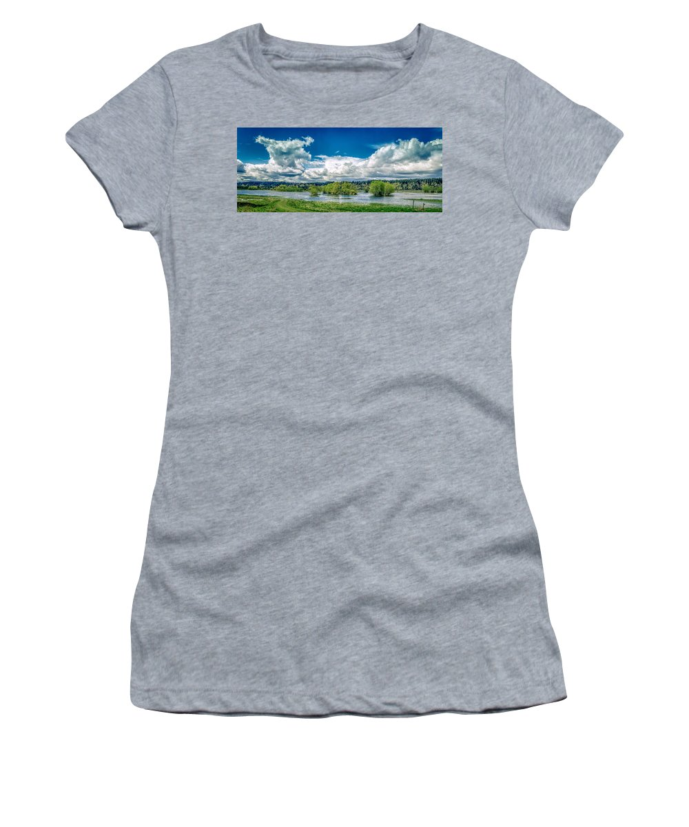Nisqually Wildlife Refuge Women's T-Shirt featuring the photograph Nisqually Wildlife Refuge by Mike Penney