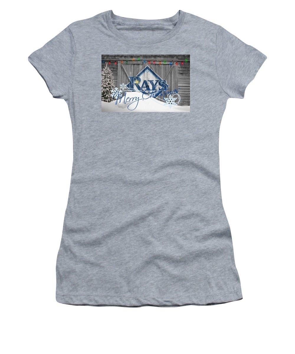 Rays Women's T-Shirt featuring the photograph Tampa Bay Rays by Joe Hamilton