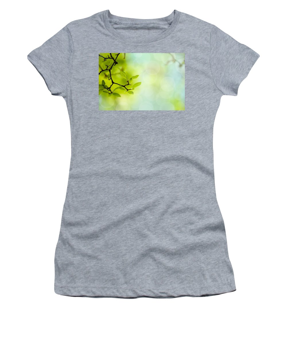 Tree Women's T-Shirt featuring the photograph Spring Green by Nailia Schwarz