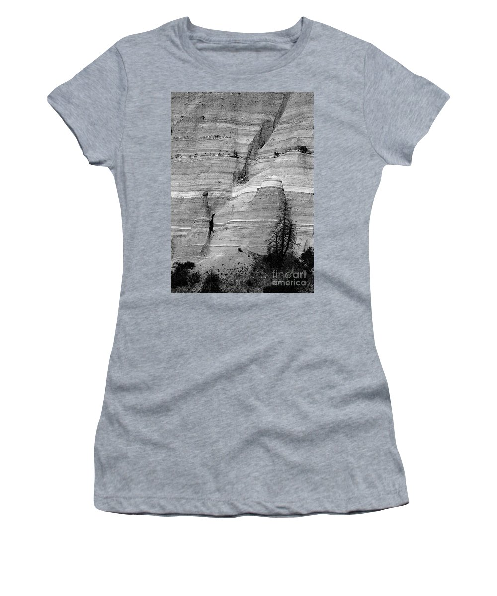 Tent Rocks Women's T-Shirt (Athletic Fit) featuring the photograph New Mexico - Tent Rocks by Steven Ralser