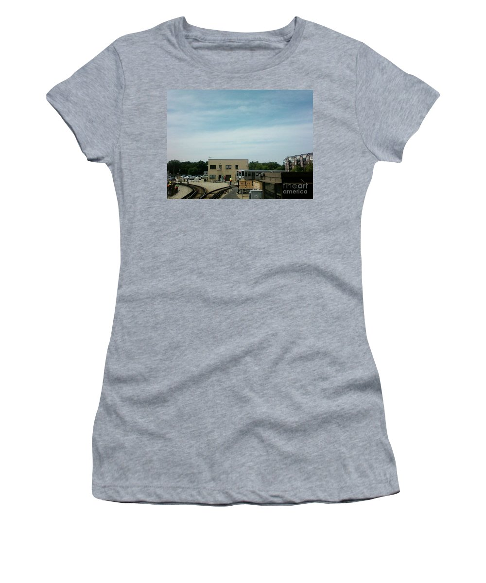 Illinois Women's T-Shirt (Athletic Fit) featuring the photograph Cta's Retired 2200-series Railcar by Alfie Martin