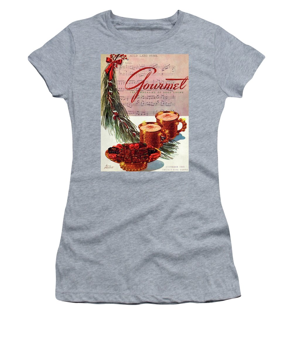 Illustration Women's T-Shirt featuring the painting A Christmas Gourmet Cover by Henry Stahlhut
