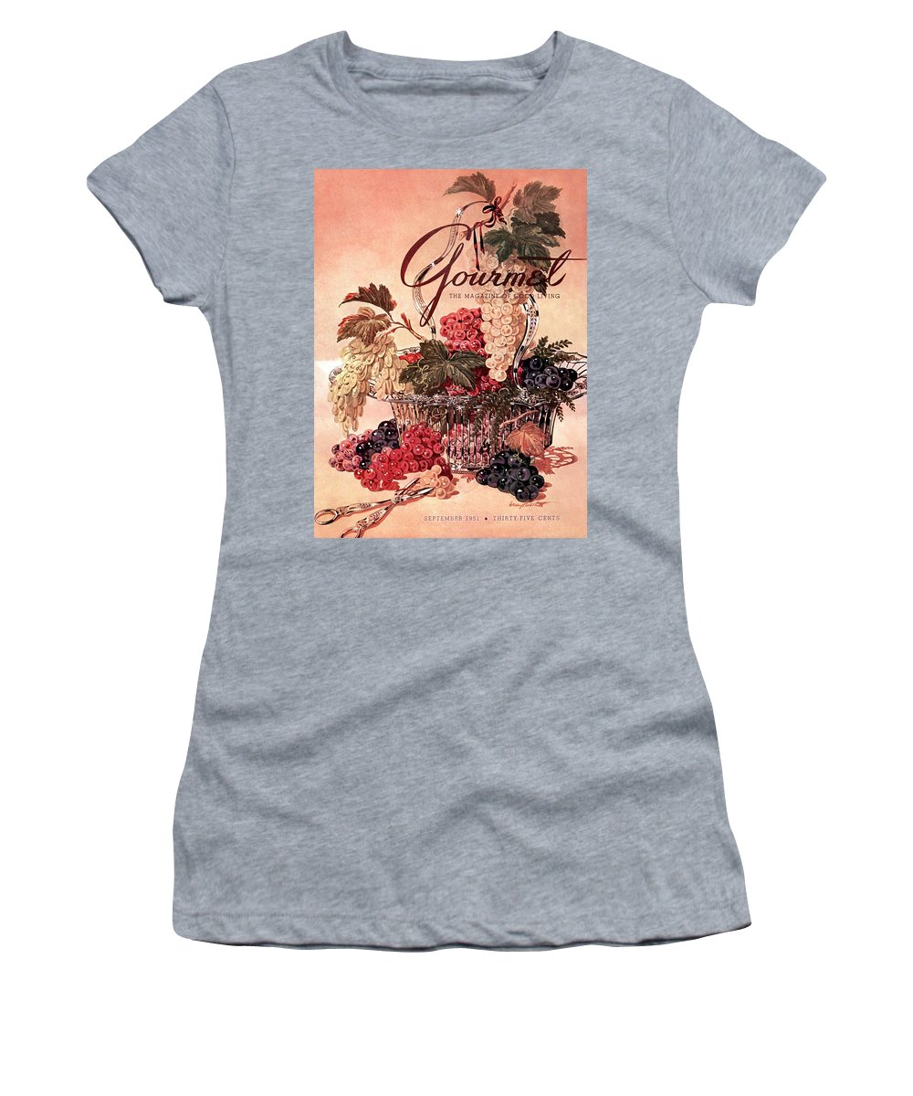 Illustration Women's T-Shirt featuring the photograph A Gourmet Cover Of Grapes by Henry Stahlhut