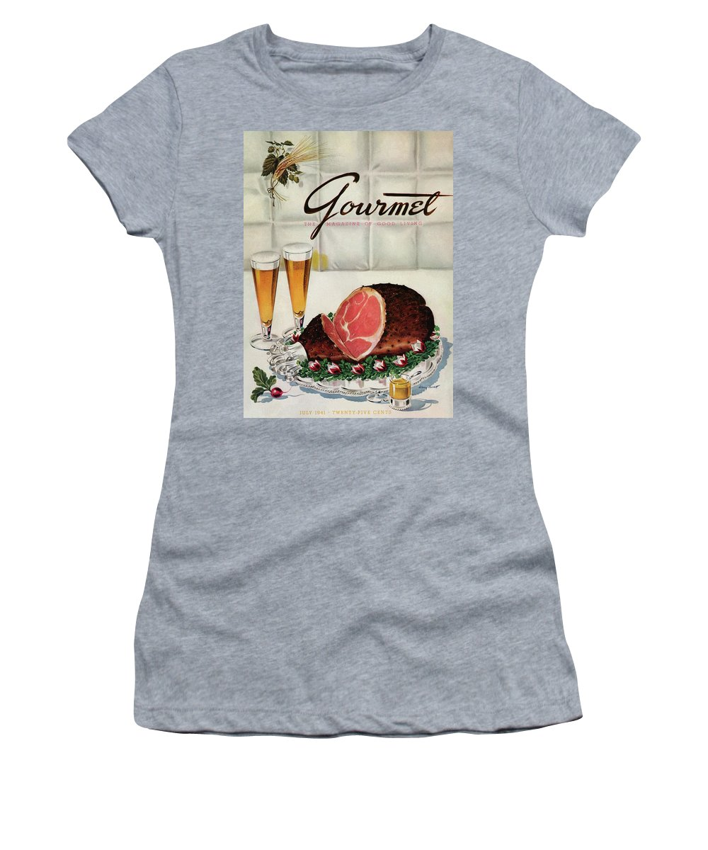 Illustration Women's T-Shirt featuring the photograph A Gourmet Cover Of Ham by Henry Stahlhut