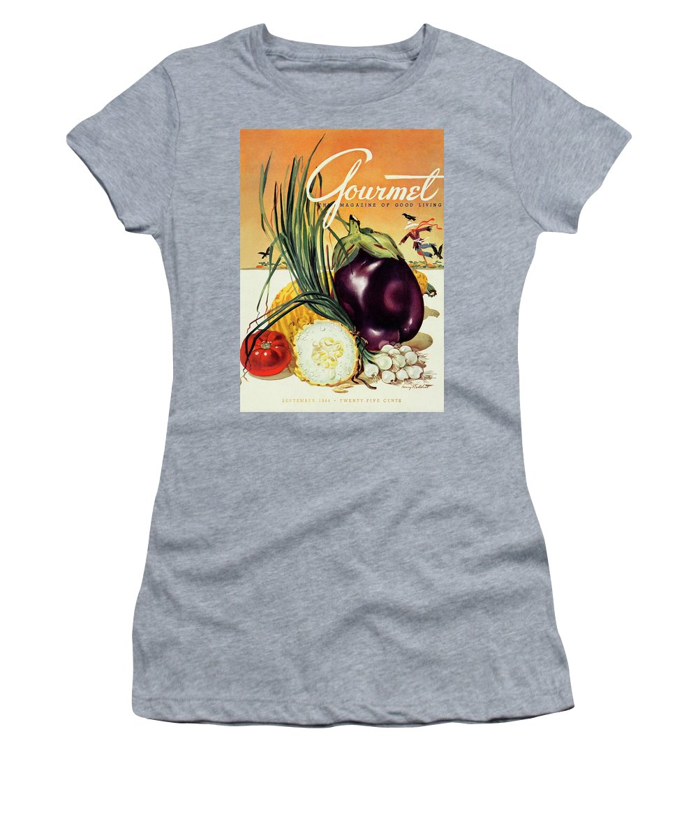 Food Women's T-Shirt featuring the photograph A Gourmet Cover Of Vegetables by Henry Stahlhut