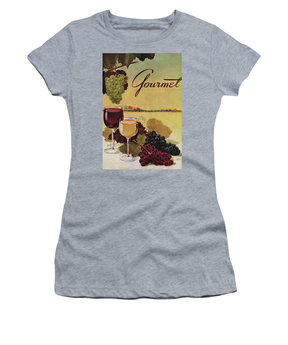 Exterior Women's T-Shirt featuring the photograph A Gourmet Cover Of Wine by Henry Stahlhut