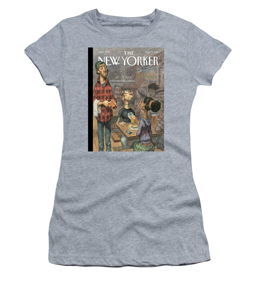 Elite Women's T-Shirt featuring the painting Hip Hops by Peter de Seve