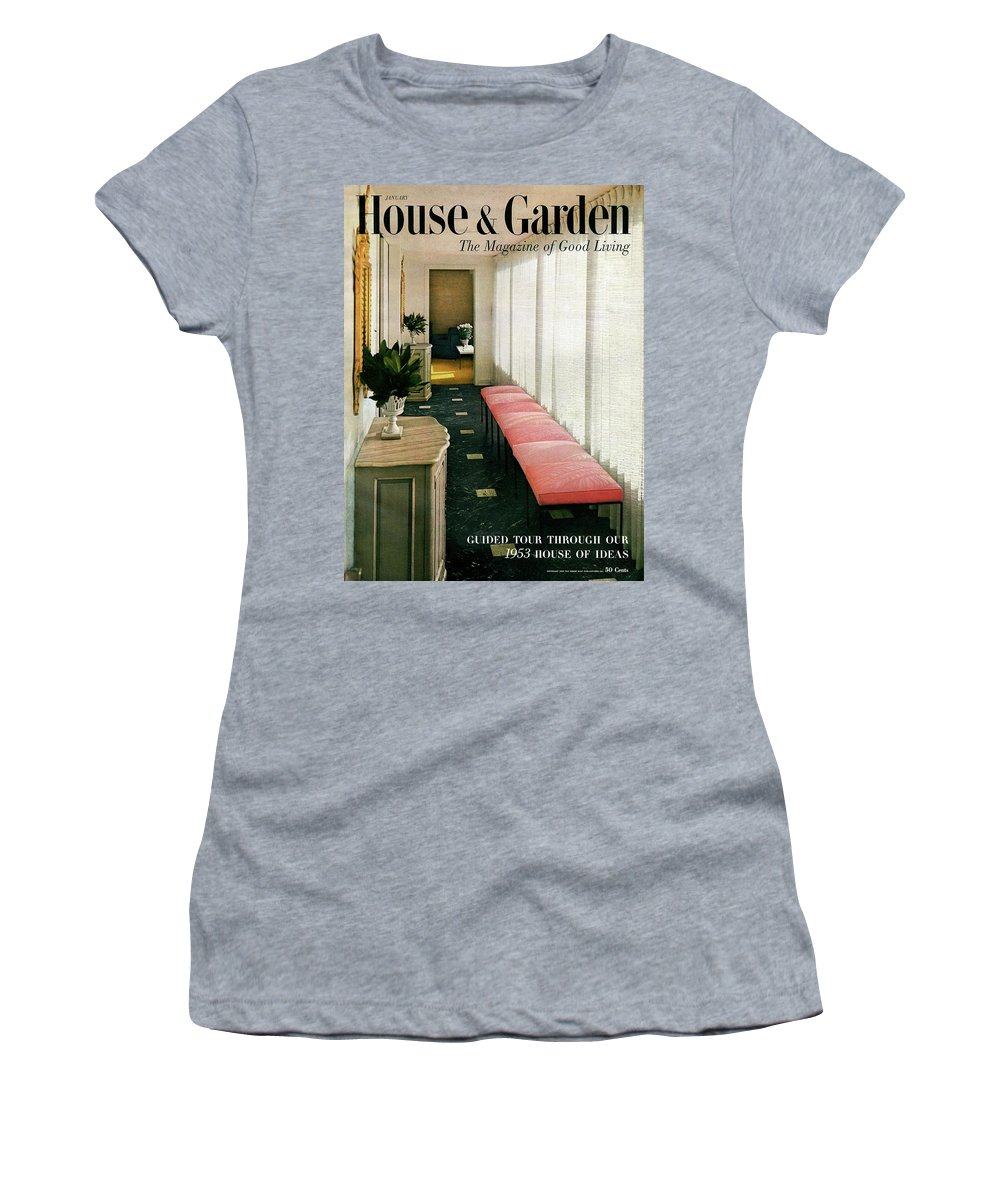 Interior Design Women's T-Shirt featuring the photograph A House And Garden Cover Of A Hallway by Haanel Cassidy