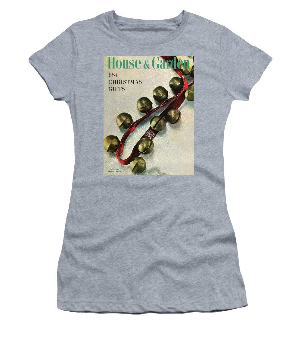 Illustration Women's T-Shirt featuring the photograph A House And Garden Cover Of Sleigh Bells by Herbert Matter