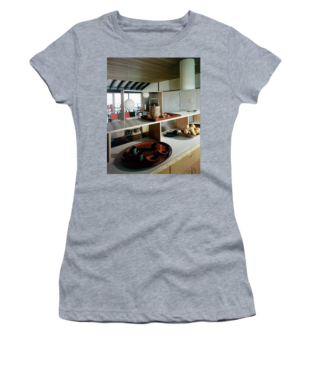 Indoors Women's T-Shirt featuring the photograph A House At Quantuck Bay by Pedro E. Guerrero