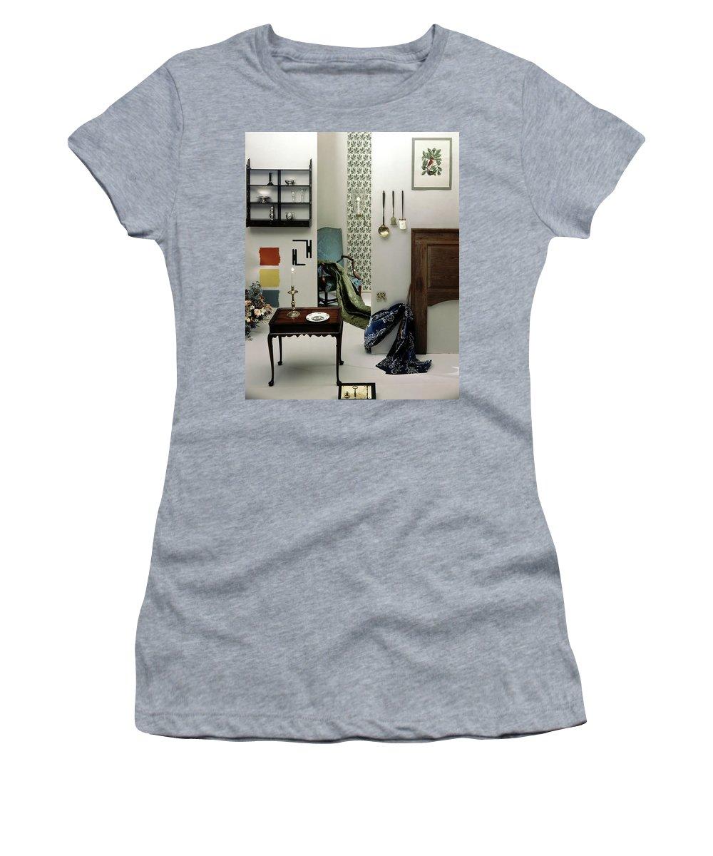 Virginia Women's T-Shirt featuring the photograph A Living Room Designed By Raleigh Tavern by Herbert Matter