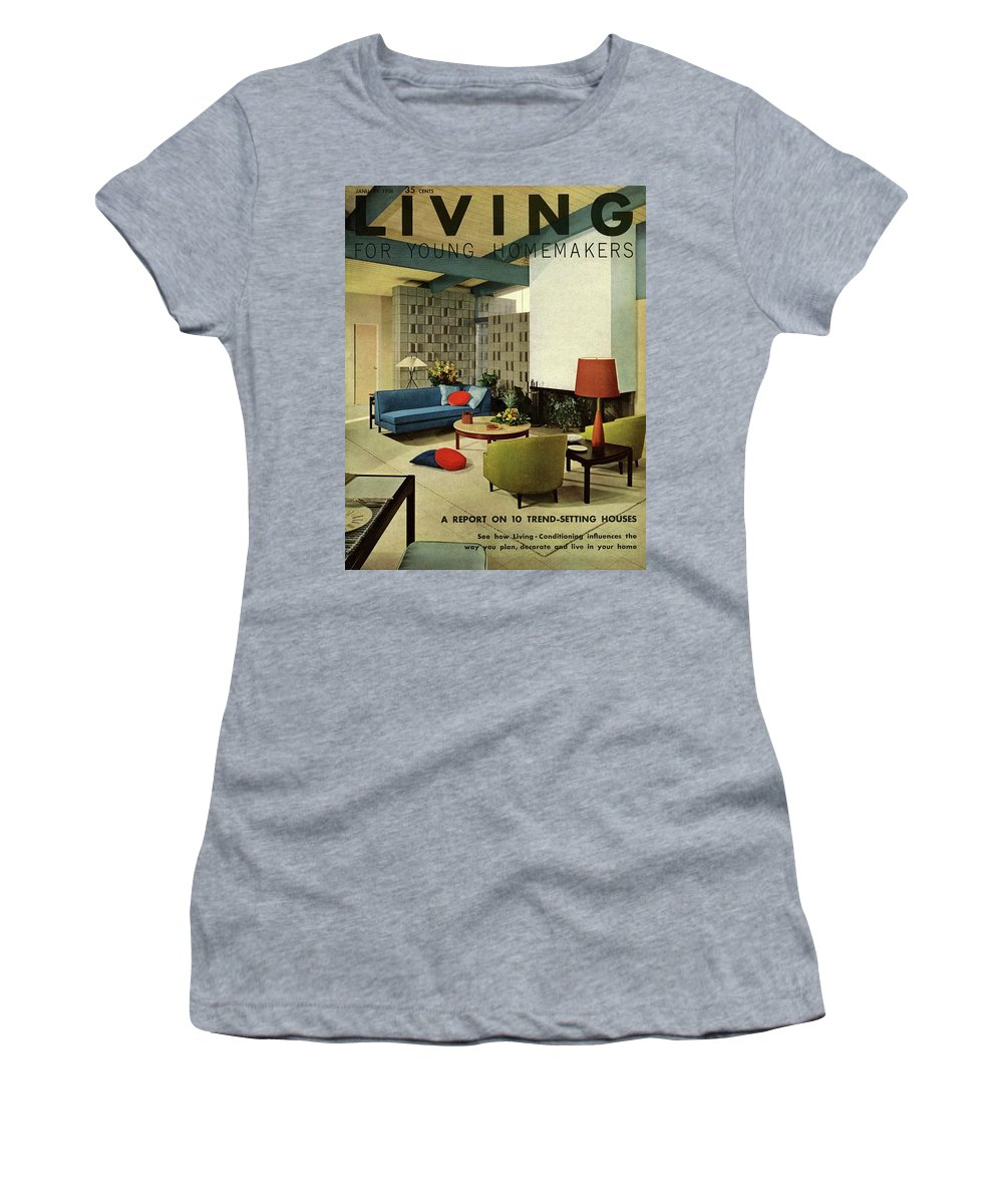 Furniture Women's T-Shirt featuring the digital art A Living Room With Carpeting By Callaway by George De Gennaro