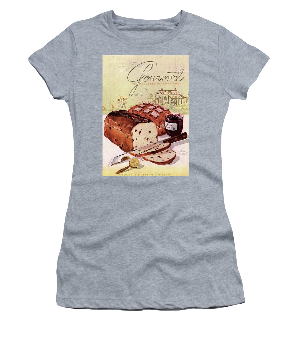 Food Women's T-Shirt featuring the photograph A Loaf Of Raisin Bread by Henry Stahlhut