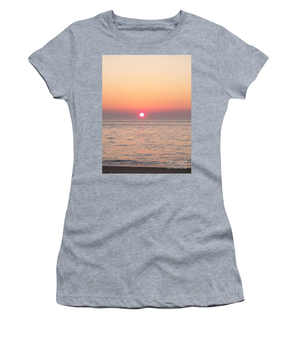 Sunset Women's T-Shirt featuring the photograph A Minute To Sunset by Eric Schiabor