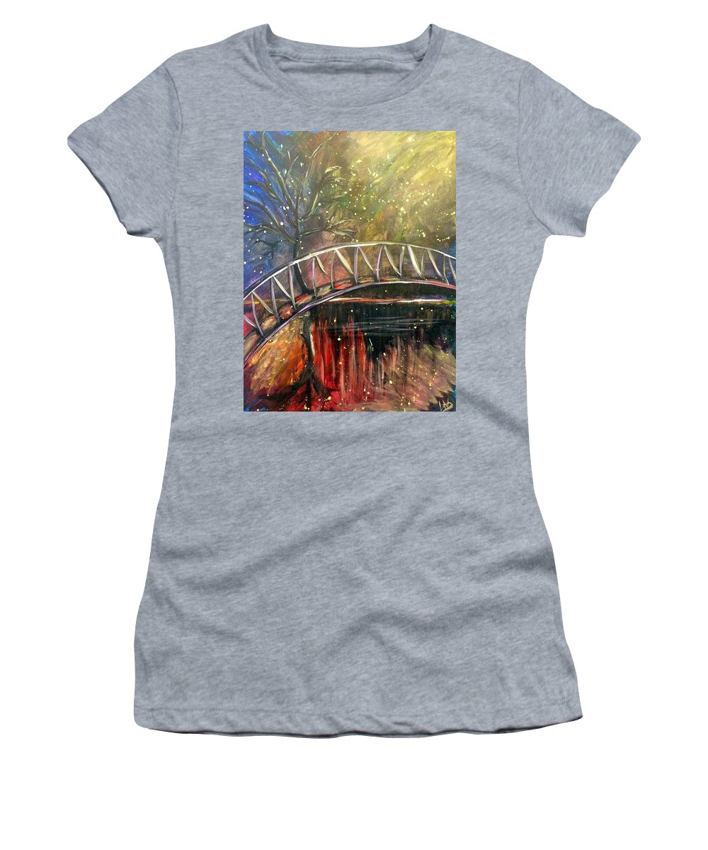 Nice Women's T-Shirt (Athletic Fit) featuring the painting A Nice Little Getaway by Lisa Stanley
