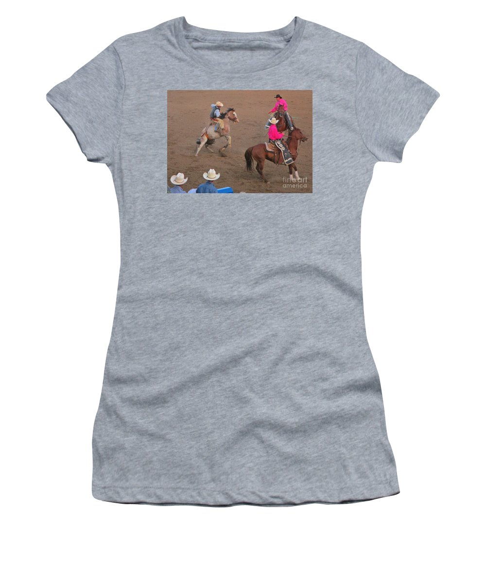A Rough Ride Women's T-Shirt featuring the photograph A Rough Ride by John Malone
