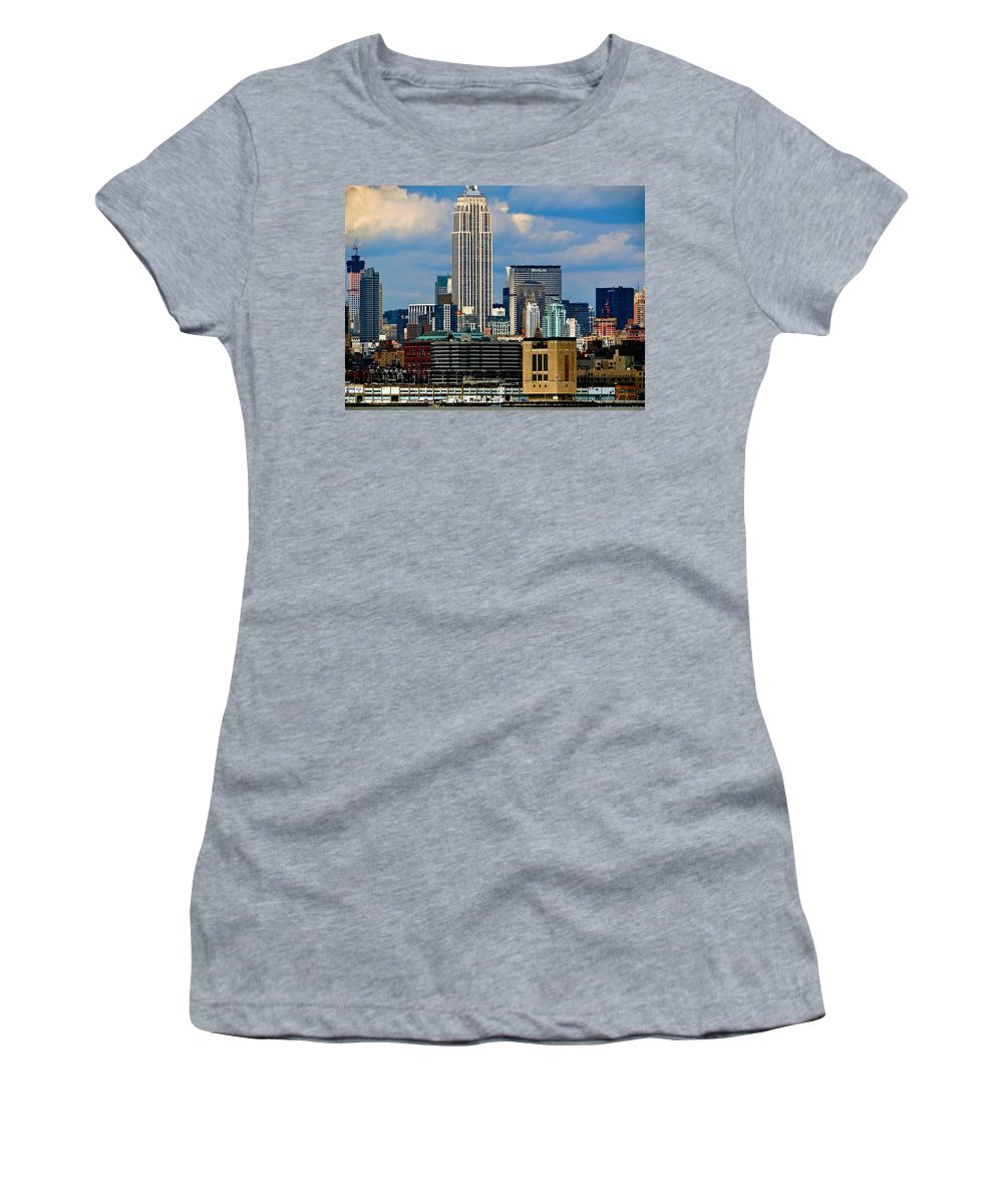 New York City Women's T-Shirt featuring the photograph A Slice Of The Apple by Ira Shander