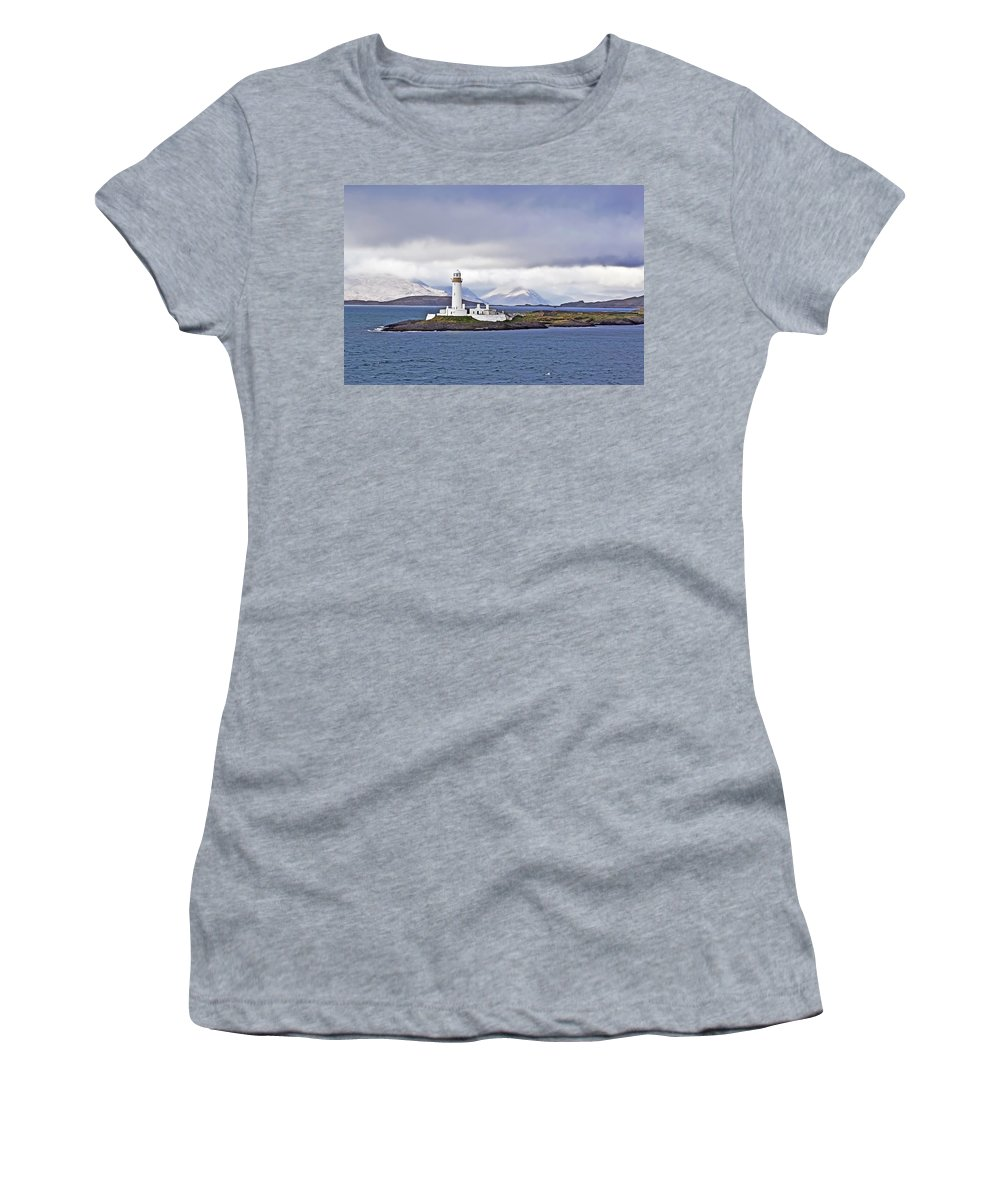 Travel Women's T-Shirt featuring the photograph A Storm And The Lighthouse by Elvis Vaughn