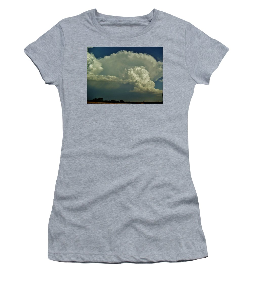 Oklahoma Women's T-Shirt featuring the photograph A Supercell Is Born by Ed Sweeney