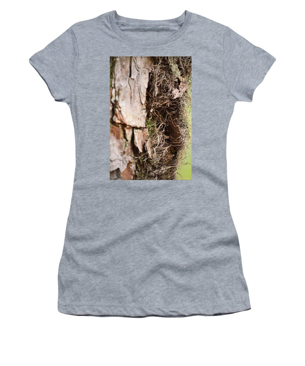 Tree Women's T-Shirt (Athletic Fit) featuring the photograph A Treetrunk Abstract by Maria Urso