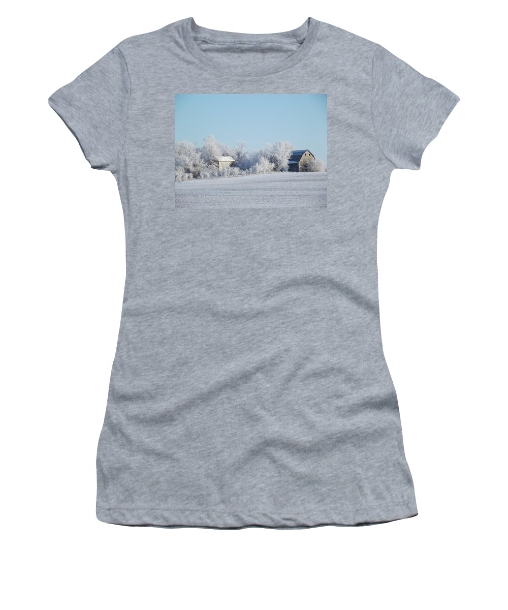 Frost Women's T-Shirt featuring the photograph Abandoned Frost Farm by Bonfire Photography