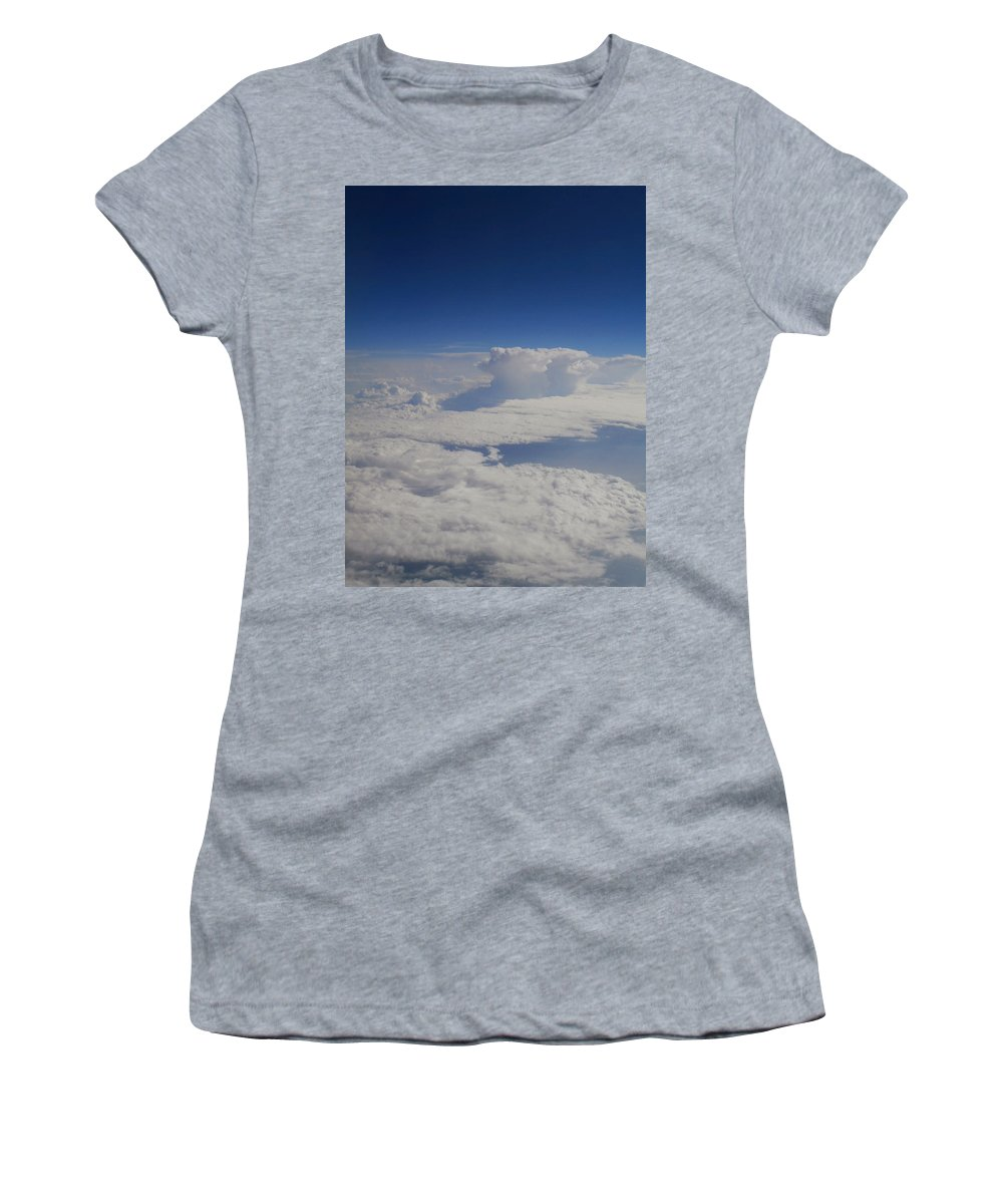 Clouds Women's T-Shirt featuring the photograph Above The Clouds by Dan McCafferty