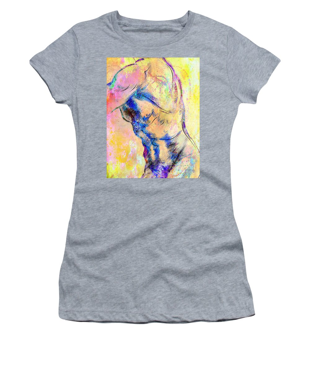 Bodybuilder Women's T-Shirt (Athletic Fit) featuring the digital art Abstract Bod 6 by Mark Ashkenazi