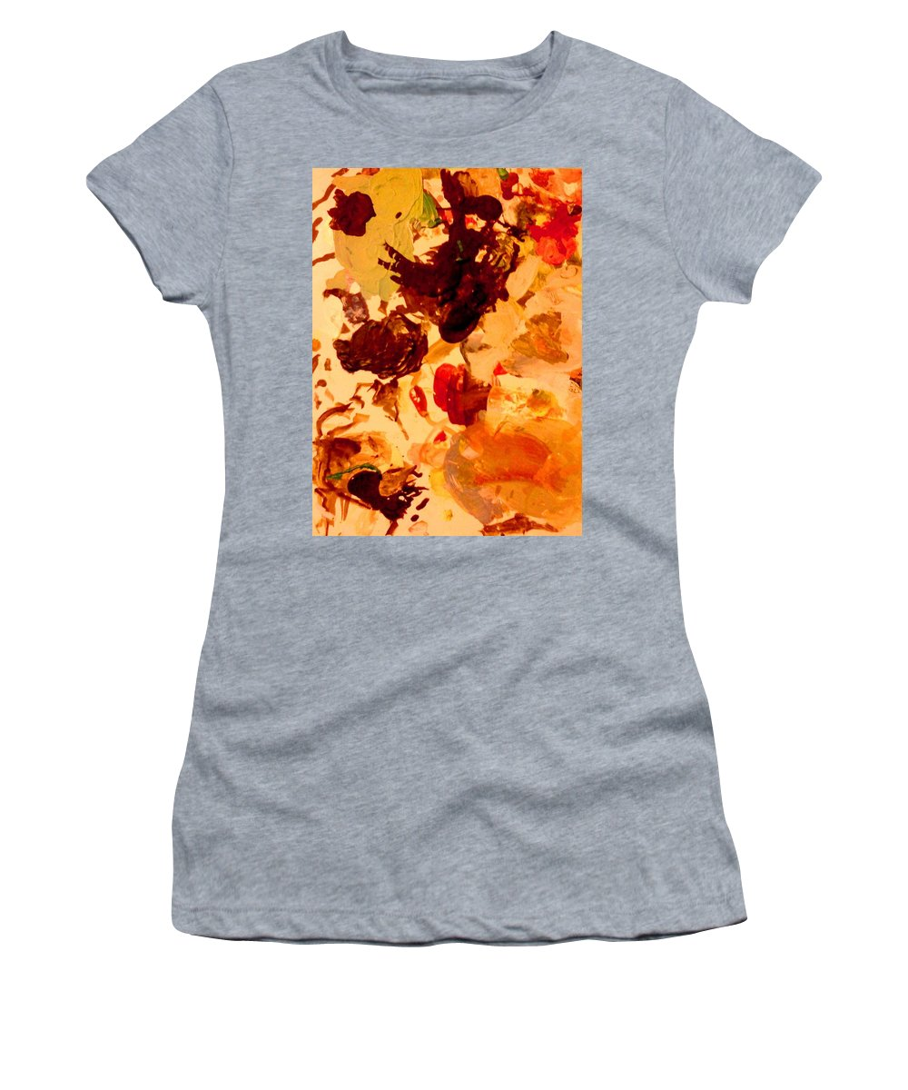 Abstract Women's T-Shirt featuring the painting Abstract Number One by Stacy C Bottoms