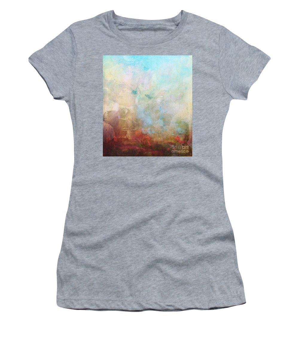 Abstract Women's T-Shirt featuring the digital art Abstract Print 6 by Filippo B