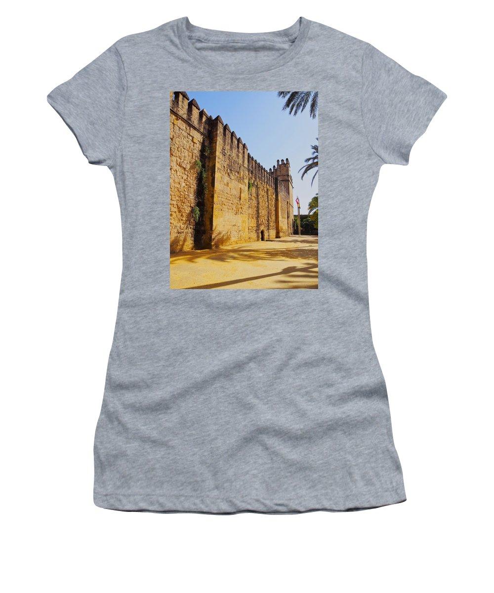 Alcazar Women's T-Shirt featuring the photograph Alcazar In Cordoba by Karol Kozlowski