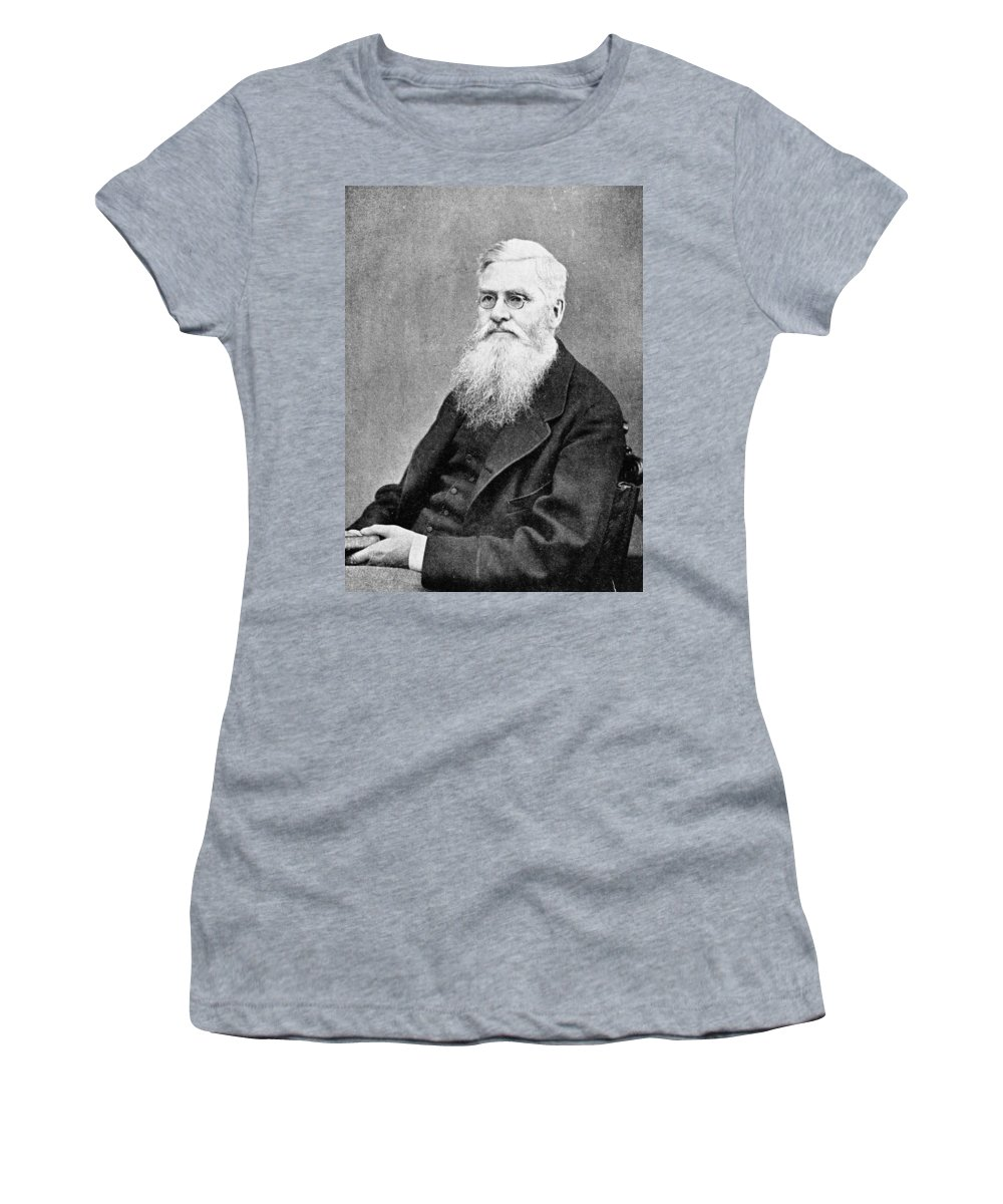 1878 Women's T-Shirt (Athletic Fit) featuring the photograph Alfred Russel Wallace (1823-1913) by Granger