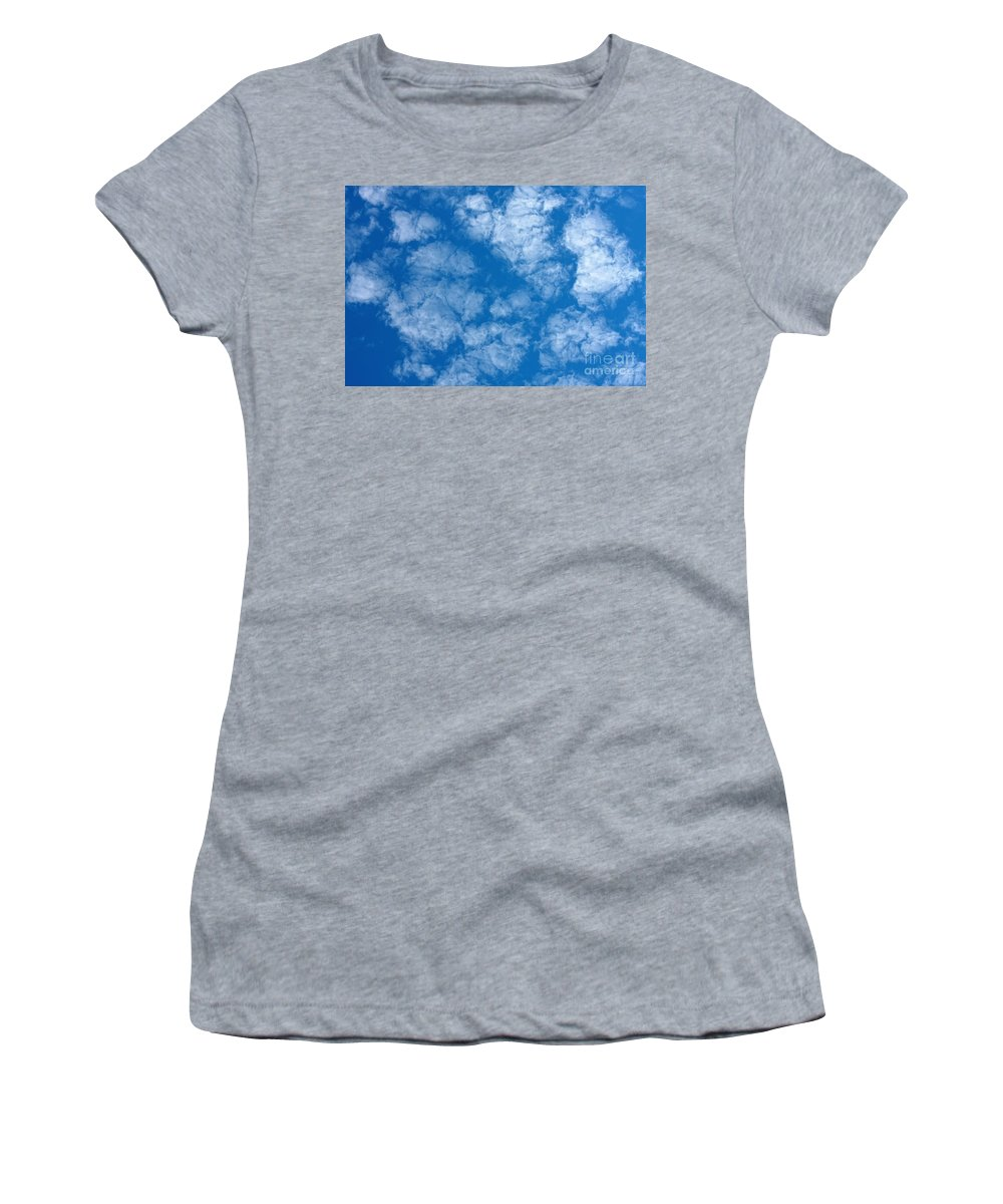 Weather Women's T-Shirt featuring the photograph Altocumulus Cloud. by Jan Brons
