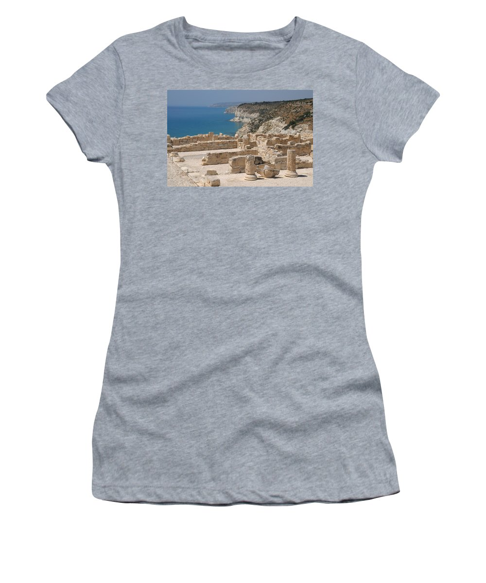 Cyprus Women's T-Shirt featuring the photograph Ancient Curium by Jeremy Voisey