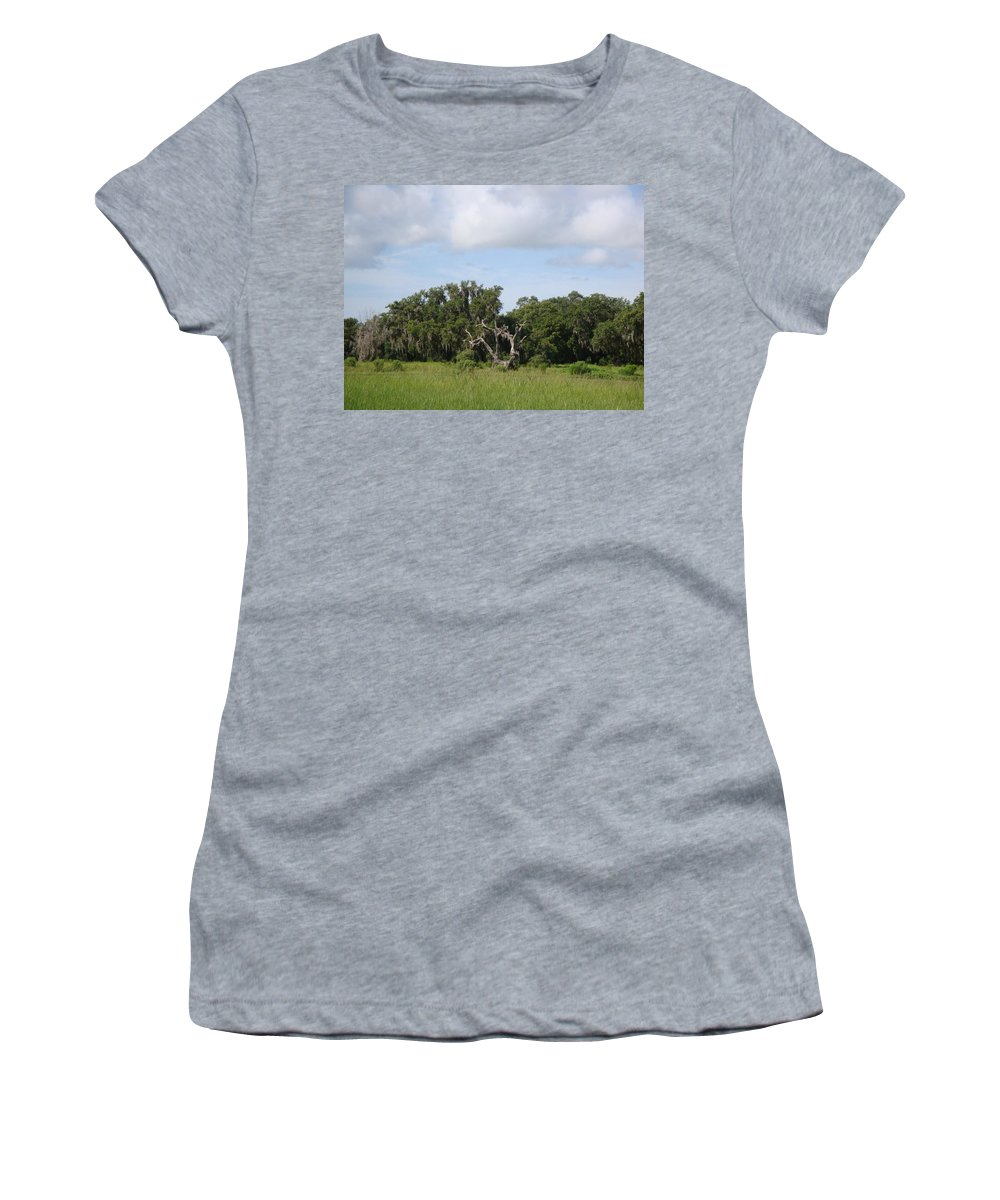 Trees Women's T-Shirt (Athletic Fit) featuring the photograph Ancient Trees by Kim Chernecky