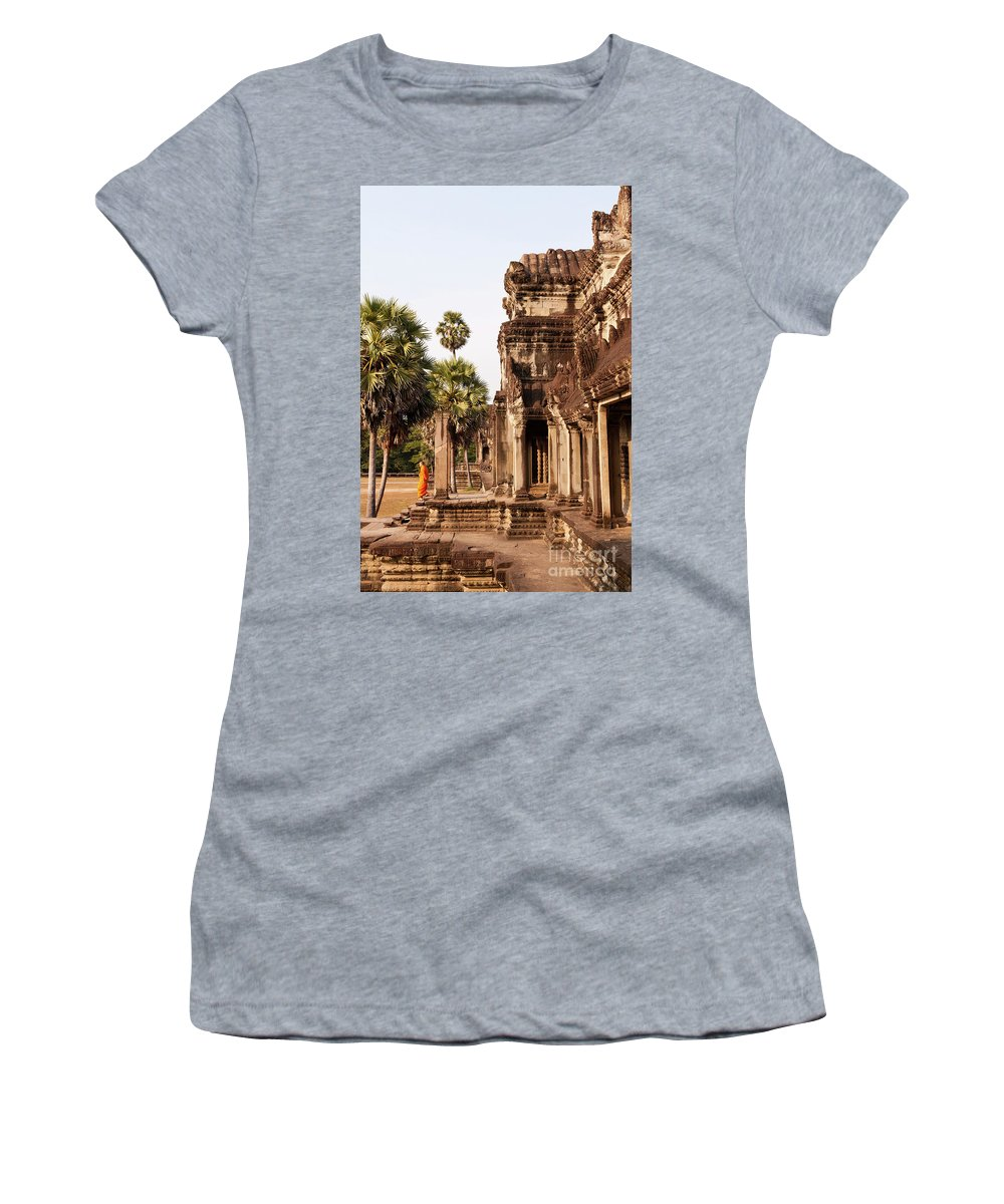 Cambodia Women's T-Shirt (Athletic Fit) featuring the photograph Angkor Wat 01 by Rick Piper Photography