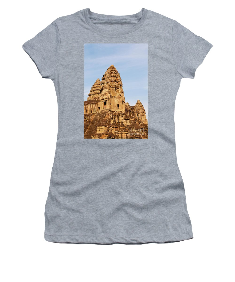 Cambodia Women's T-Shirt (Athletic Fit) featuring the photograph Angkor Wat 04 by Rick Piper Photography