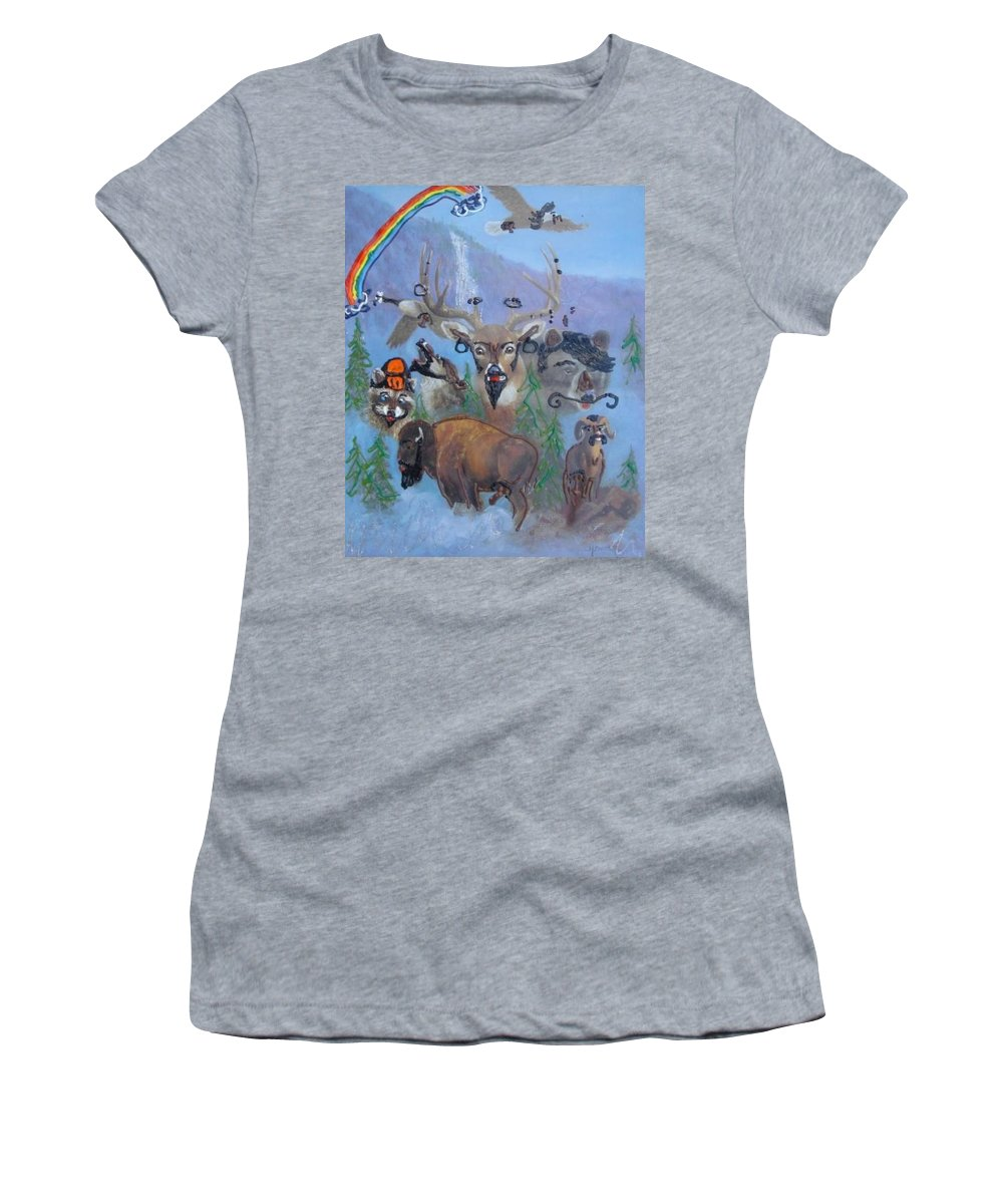 Dear Women's T-Shirt featuring the painting Animal Equality by Lisa Piper