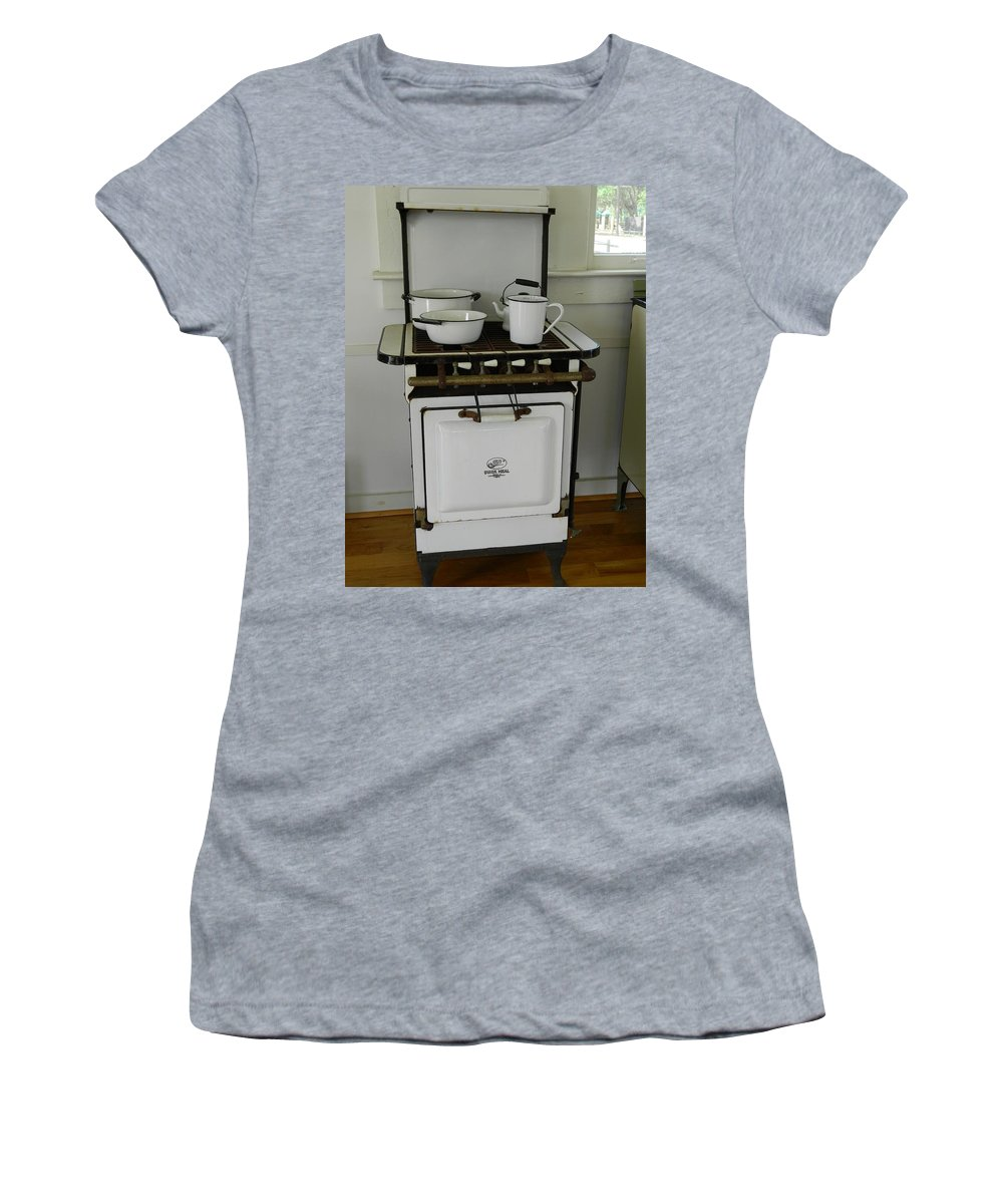 Enamel Women's T-Shirt (Athletic Fit) featuring the photograph Antique Stove Number 3 by George Pedro